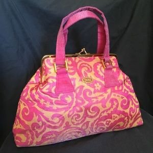 🔥$8 FIRE SALE🔥 Pink & Gold Kiss Lock Handbag